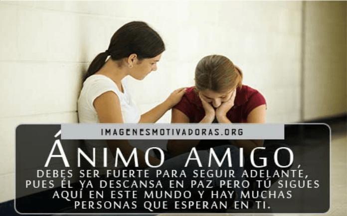 Imágenes de luto con frases de Consuelo para un amigo
