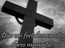 Imágenes de cruz negra de luto con frases