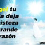 Mi ángel tu partida deja una tristeza muy grande mi corazón
